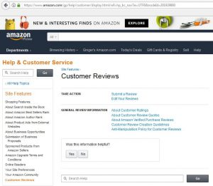 Amazon Customer Review Help Page